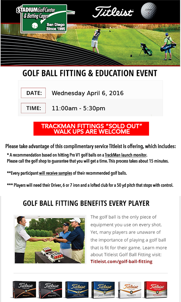 Titleist golf ball fitting event find the best