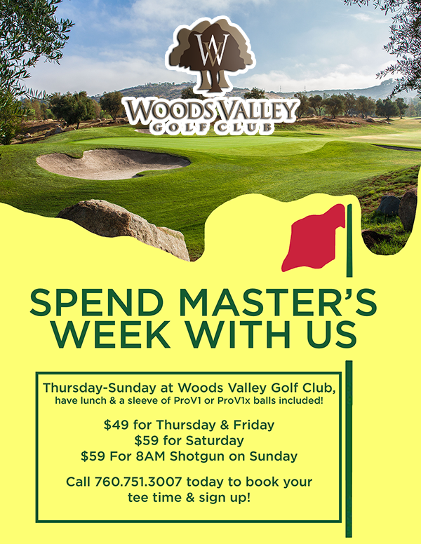 Woods Valley Masters Week