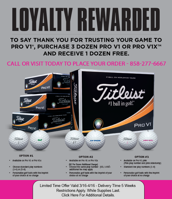 2017 Loyalty Rewarded Titleist