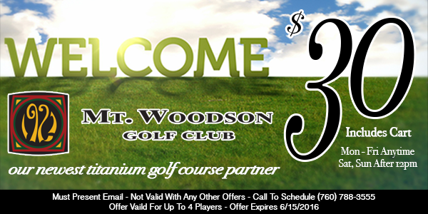 Mt Woodson Welcome Offer April 2016