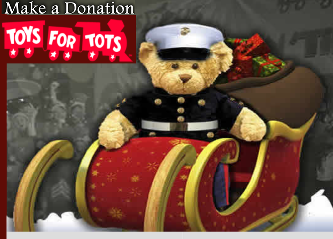 Toys For Toys : Marine toys for tots make a donation free birdie basket