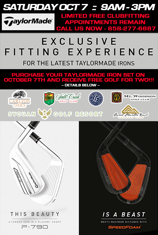 TaylorMade Demo / Fitting Oct 2017